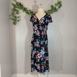 Xhilaration Floral Midi Length Dress